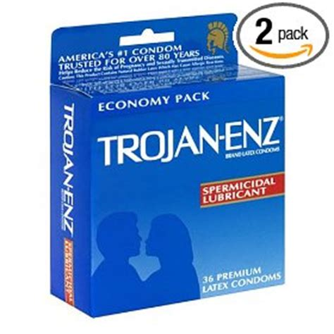trojan enz comfort trojan enz latex condoms spermicidal lubricant 36 count