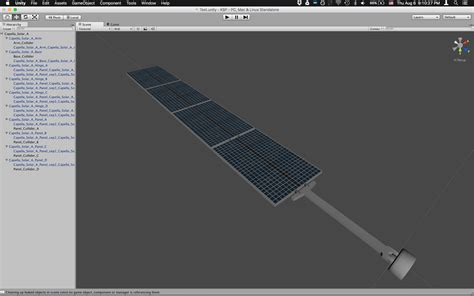unity ksp tutorial solar panel setup and animation in unity modelling and