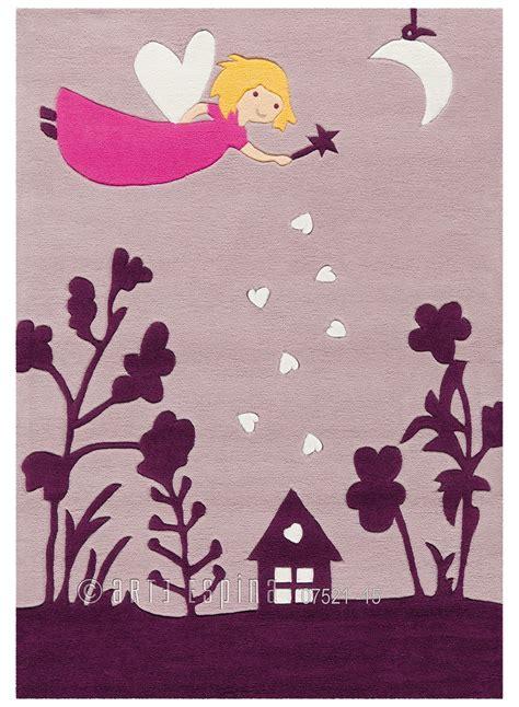 tapis chambre fille violet tapis pour fille brillant glowy fee violet de la