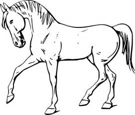 walking horse outline clip art clker vector clip