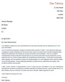 Recruitment Administrator Cover Letter by Application Letter For Data Administrator Lettercv