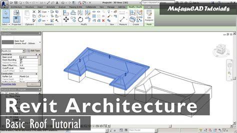 tutorial on revit architecture 2009 revit architecture basic roof tutorial youtube