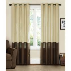 Color Block Drapery Canopy Lined Color Band Grommet Panel Walmart Com