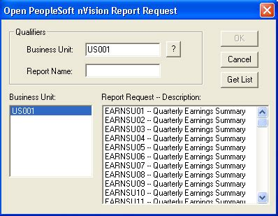 creating report requests