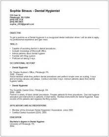 dental hygienist resume exle free templates collection
