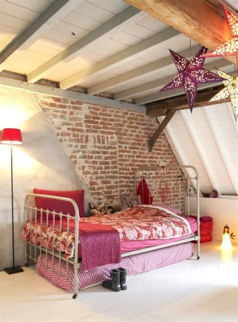 Awesome Boy And Girl Room Ideas #3: 22-attic-girls-space-with-a-part-brick-wall-that-makes-a-statement.jpg