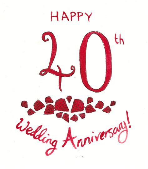 40th Wedding Anniversary by Latset Happy 40th Wedding Anniversary Invitations