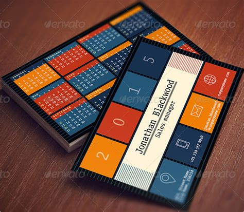 Card Calendar Template by 23 Pocket Calendar Templates Free Psd Vector Eps Png
