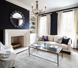 Black Living Room by Black And White Living Rooms Design Ideas