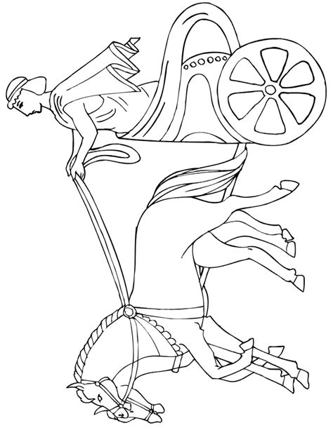 a horse drawn carriage coloring pages