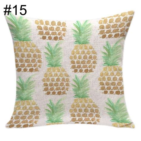 pineapple couch pineapple linen cotton cushion cover case home sofa decor