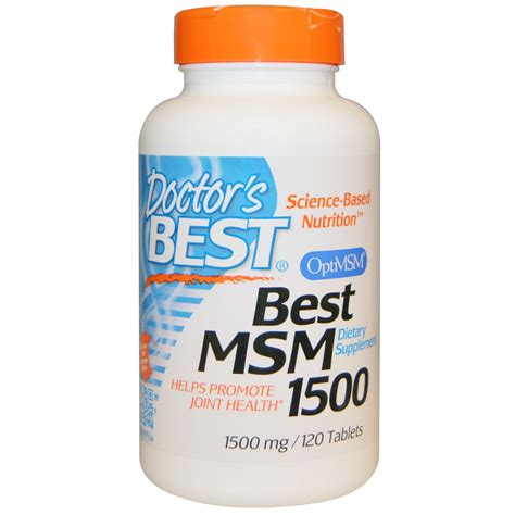 The Ms M by Doctor S Best Best Msm 1500 1500 Mg 120 Tablets Iherb