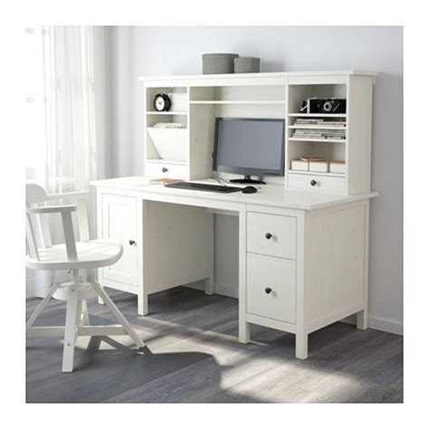 ikea hemnes schreibtisch hemnes desk with add on unit white stain stains