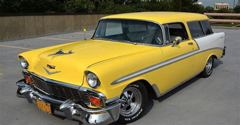 yellow paint sles charm of chevy nomad evident at convention