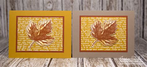 fall cards to make vintage leaves fall cards ink it up with card