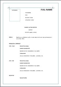 Simple Resume Sles Pdf Chronological Resume Template Green Resume Templates