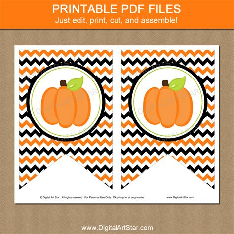 printable pumpkin banner pumpkin banner halloween party or little pumpkin baby