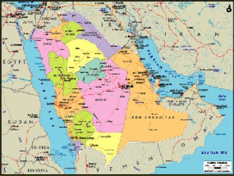 political map of saudi arabia saudi arabia political wall map maps