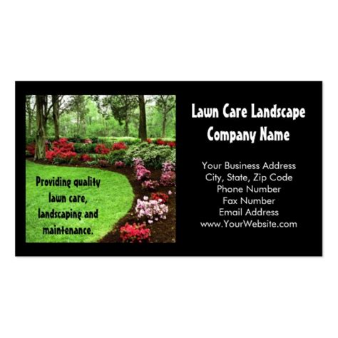 lawn service business card template plush green landscape lawn care business business card