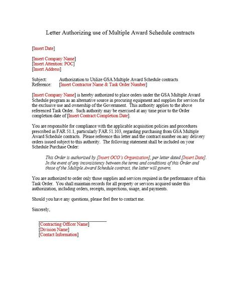 authorization letter of owner 46 authorization letter sles templates template lab