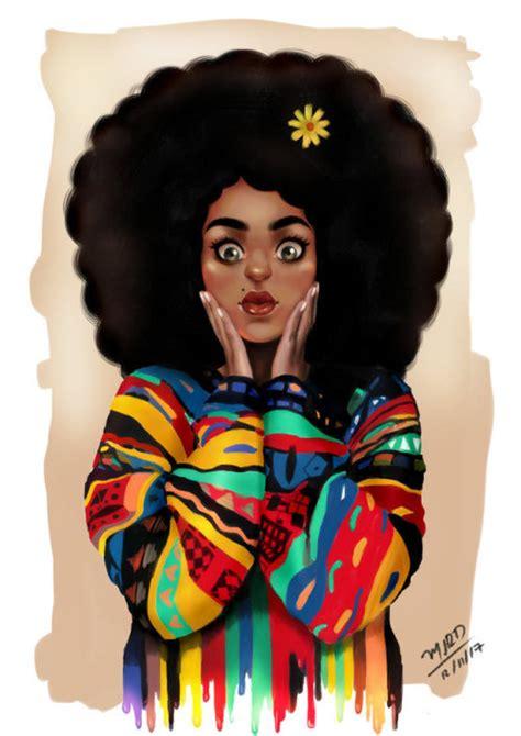 edge of wallpaper curls black girl on tumblr