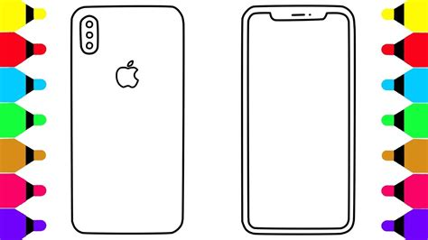 Iphone X Coloring Page learn colors for with iphone x coloring pages for