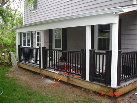 porch deck vinyl porch railing ideas