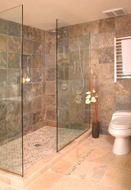 Open Shower Without Door Asian Bathroom Seattle By Showers Without Doors