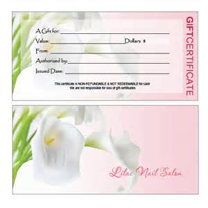 nail gift certificate template free gift certificates printing for nail salon