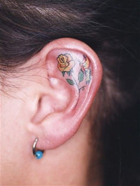 10 best inner ear tattoo designs pretty designs