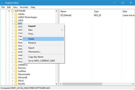 install windows 10 regedit fix avg install error on windows 10