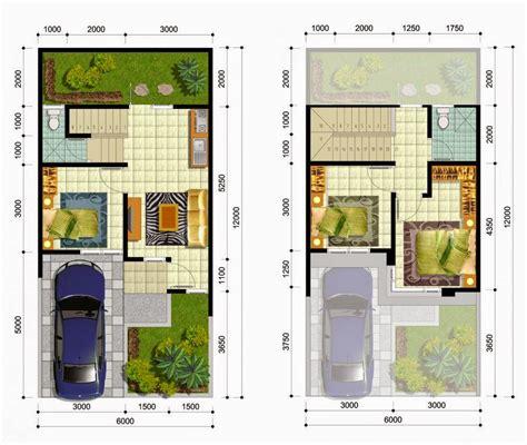 desain rumah minimalis ukuran 6x15 desain rumah minimalis 2 lantai luas tanah 72 m model