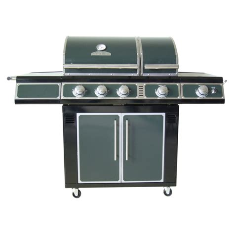 shop master forge 5 burner modular gas grill at lowes com shop master forge green 3 burner 36 000 btu natural gas or liquid propane gas grill