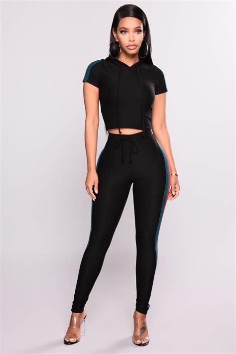 Set Toppants N0489 outlines pant set black