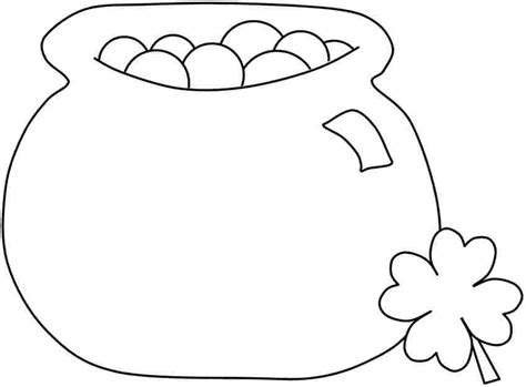 cartoon pot of gold az coloring pages