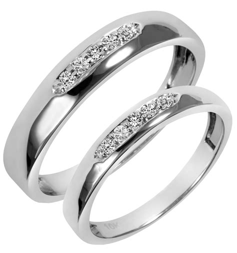 his and hers white gold wedding rings white gold wedding ring sets his and hers diamondstud