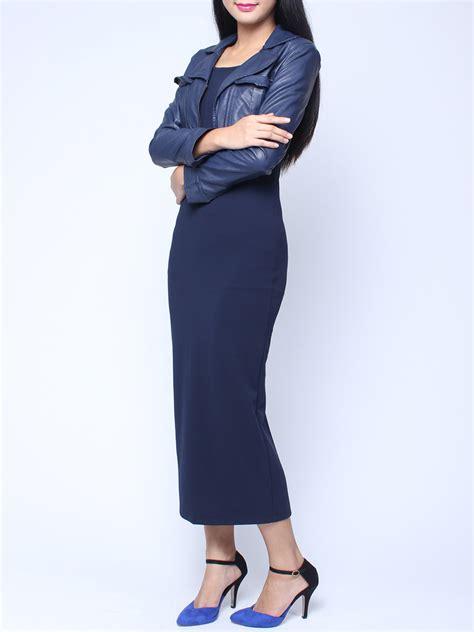 Longdress Slim k 248 b pu l 230 der small frakke og 198 rmel 248 s slim kjole suit