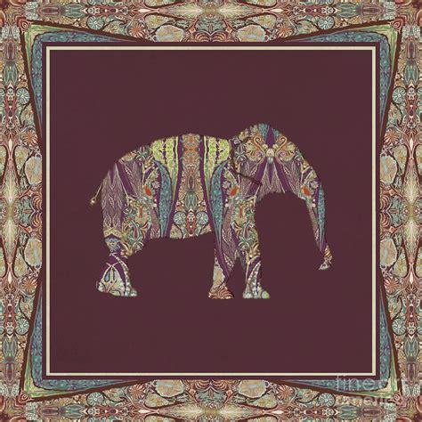 tribal home decor kashmir patterned elephant 2 boho tribal home decor