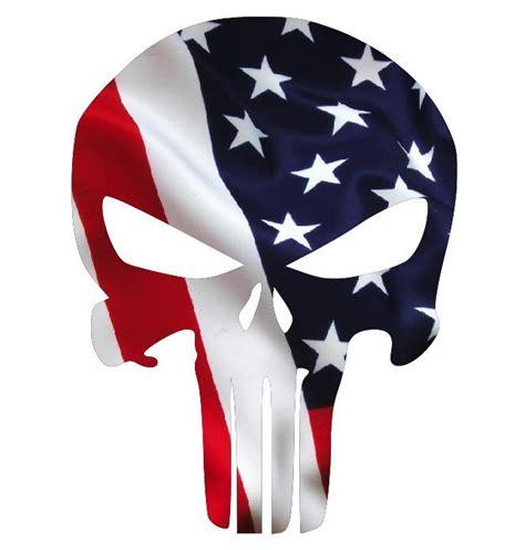 Punisher Skull American Flag Decal Punisher Skull American Flag Decal Sticker Sizes 3 Quot To 24 Quot Usa Ebay