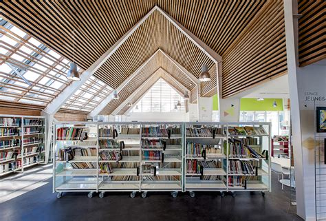 A Frame House Plans bplusb architectures adds gable roof to dainville library