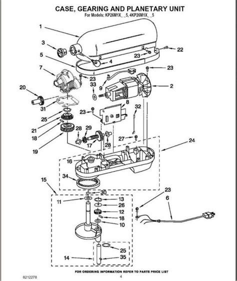kitchenaid professional 600 parts diagram kitchenaid