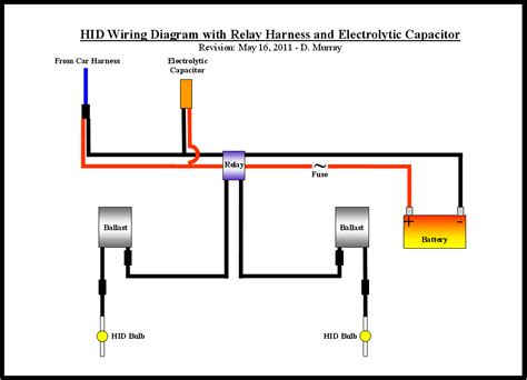 hid capacitor wiring diagram capacitors in series