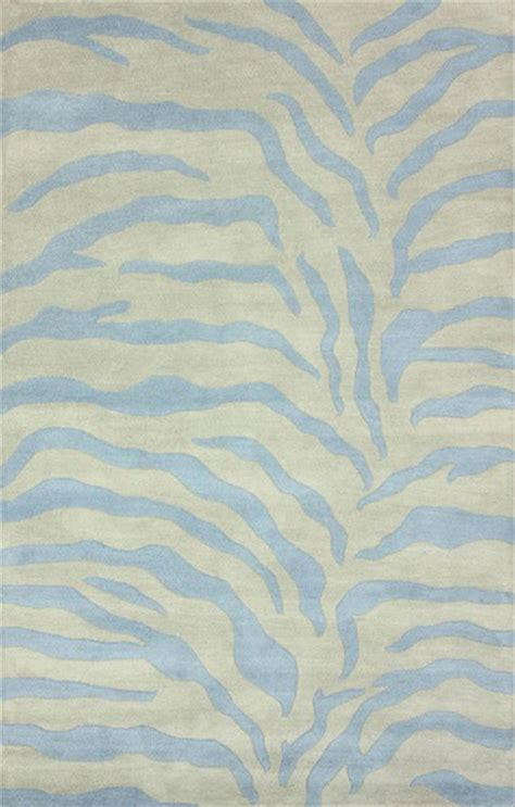 blue zebra print rug nuloom handmade zebra print wool powder blue rug 7 6 x 9 6 contemporary rugs by