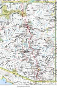arizona trail map restless adventurer backpacking arizona trail