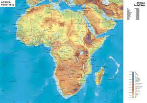 physical maps of africa physical map africa mappery
