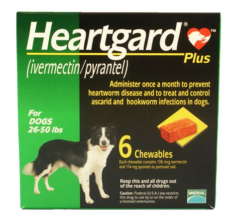 heartgard plus for dogs 26 50 lbs 6 month heartgard plus green for dogs 26 50 lbs