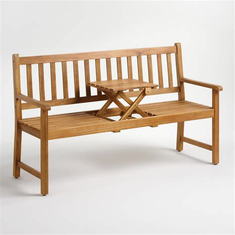 wood st lucia balcony bench world market