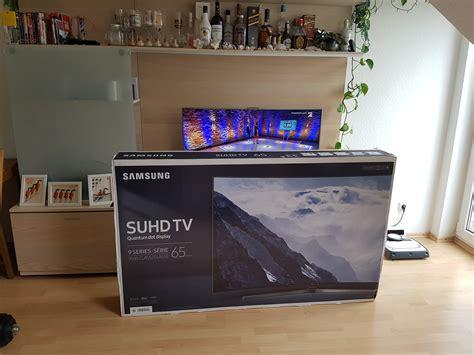 wohnzimmer 65 zoll samsung ks9590 der 65 zoll suhd tv im unboxing 4k all