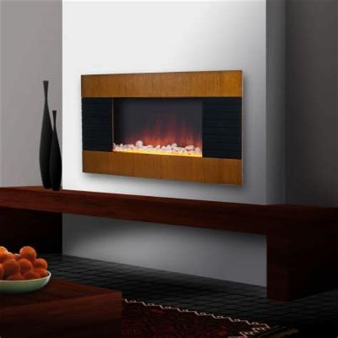 merlin 35 in wall mount electric fireplace in brown