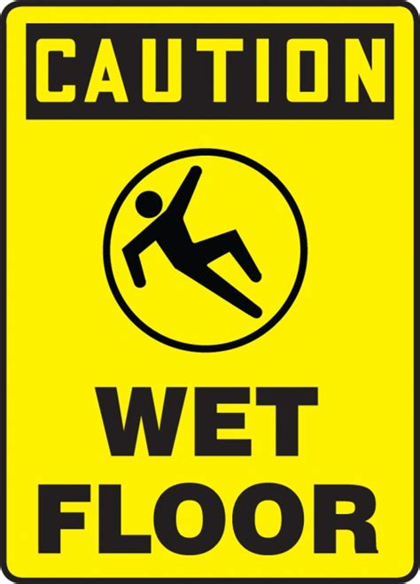Wet Floor Osha Caution Safety Sign Mstf